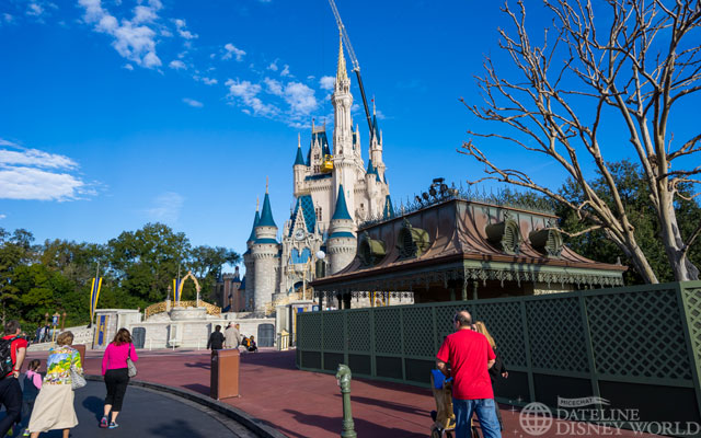 The old control towers are walled off now, and will be changed to resemble castle turrets a la Tokyo Disneyland soon.