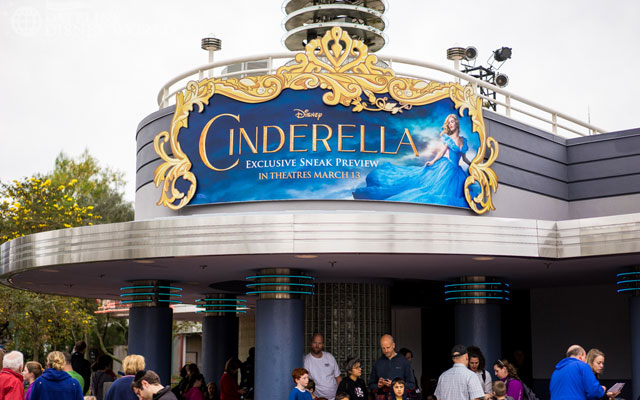 There is a preview now for the live action Cinderella movie.