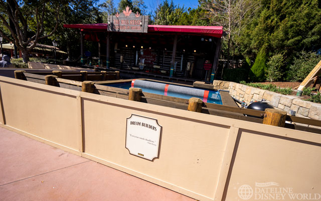Apparently, the Lumberjack show now includes logs and a pool.
