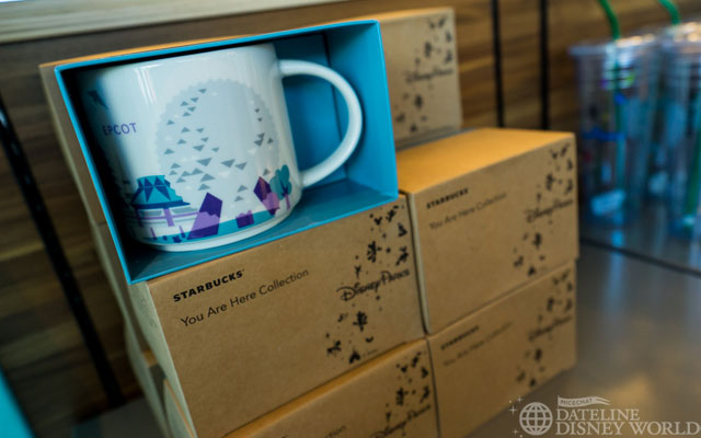 Starbucks now has You Are Here series mugs for Magic Kingdom as well as the Epcot locations. They can be purchased for $14.95 and I think they're classier than any Epcot merchandise Disney has put out in a while.
