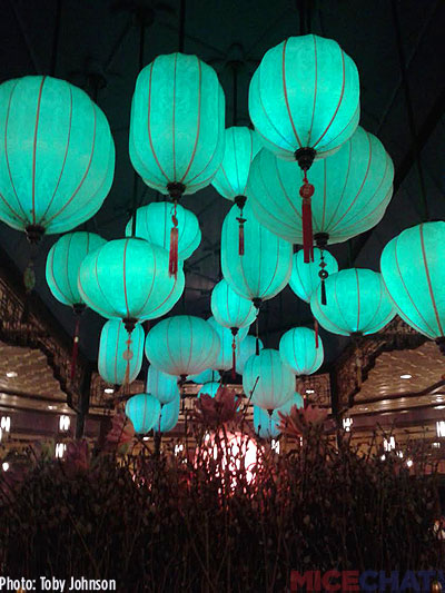 Chinese lanterns in the Plaza Inn