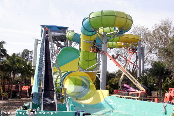 Colossal curl at adventure island Busch gardens tampa water park