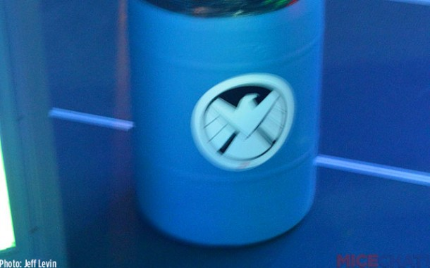 A blurry pic of a themed trash can in true Disney spirit.
