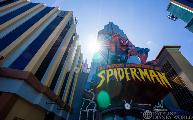 The big story this week is the crowds. Spider-Man had an 80 minute wait at about 11:30am.
