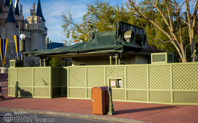 Demolition has started here where a castle turret will go in its place.