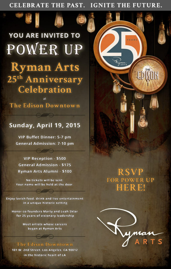 Ryman Arts - Power Up Invite