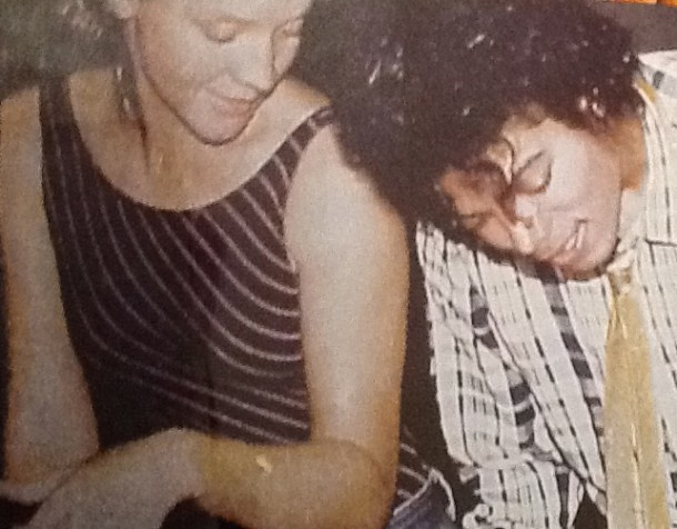 Sad but true Captain EO is closing. But Terri shown here with MJ says, you never know.