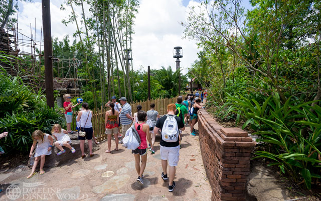 This new path has opened up at the end of the Everest area that helps guests cut through to the Kali River Rapids entrance.