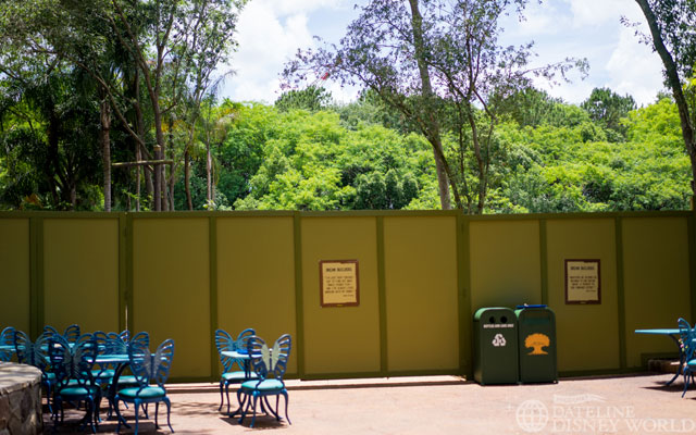 The photo may not show it, but a lot of land has been cleared at the entrance to Pandora, which is now only about 2 years away.