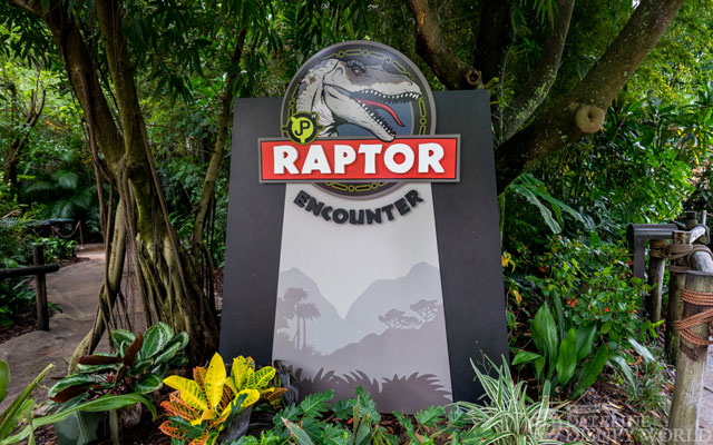 The Raptor Encounter is now open with Jurassic World opening next week. Sadly, it wasn't open while I visited.