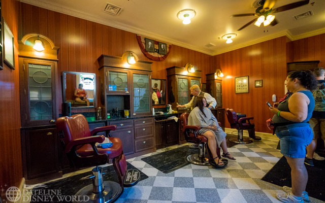 I hadn't been in the Barber Shop since it was closed for a refurbishment. Quite different on the inside now.