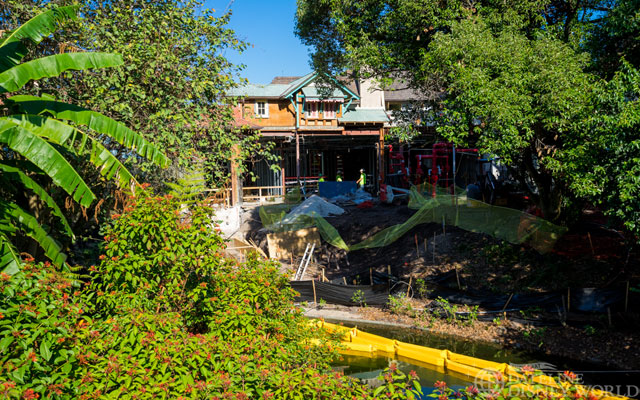 A look at the construction on the Adventureland restaurant.