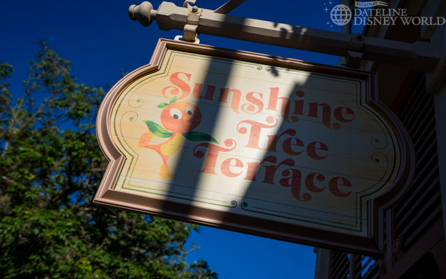 Orange Bird has also returned to the signage at the Sunshine Tree Terrace. The figure has also been added to the building but they weren't open yet for the day, so no photo this week.