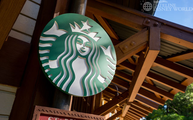 Rustic Starbucks logos.