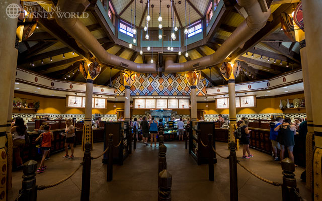 The inside evokes the Animal Kingdom Lodge style, and I love it.