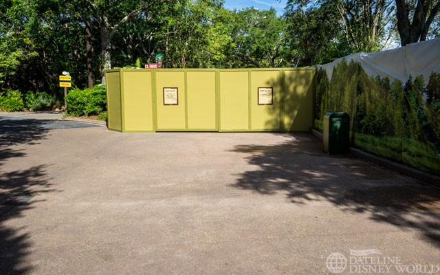This path back to Discovery Island is now walled up while Rivers of Light construction continues.