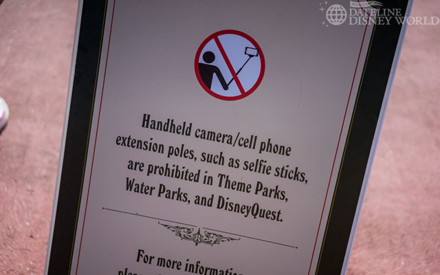 Up first this week is the fact that selfie sticks are banned at Disney Parks. Behavior issues caused the ban, and that's pretty much all there is to that. Tripods are still allowed.