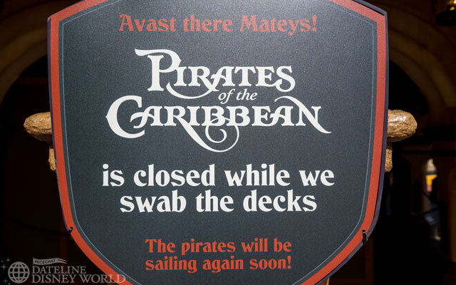 Pirates is still closed and will be until the fall.