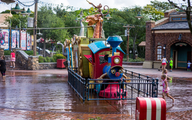 Casey Jr. isn't busy in the morning, but once it gets hot, it gets jammed.