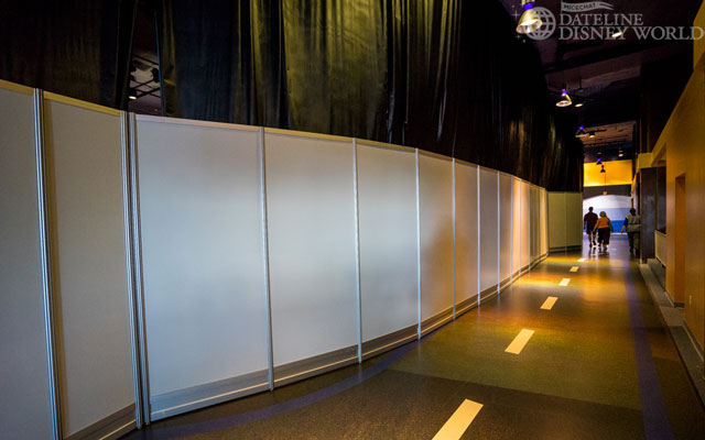 Almost all of Innoventions West is currently walled up for renovation.