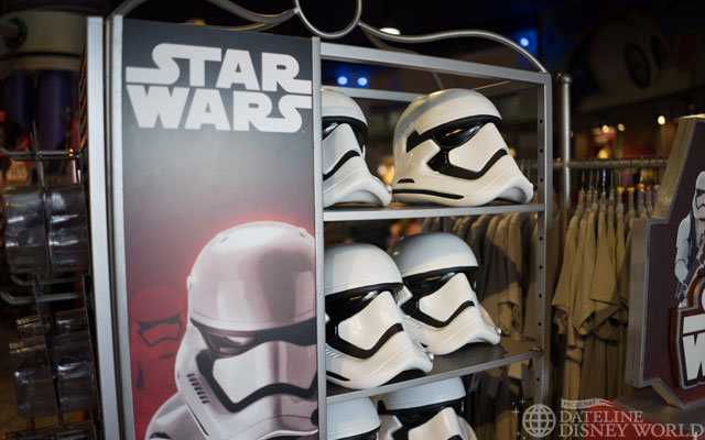 For those curious, Star Wars Episode VII toys have made their way into gift shops across the parks.