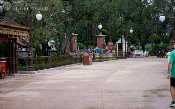 The outer ring is now fully open to guests, with the Liberty Square side being the final piece.