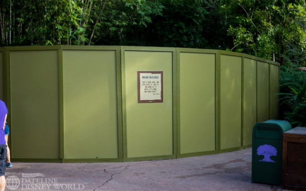 This wall is blocking the path that leads to the old Tree of Life trails. Perhaps they'll be removing the nets and letting us walk through there again soon.