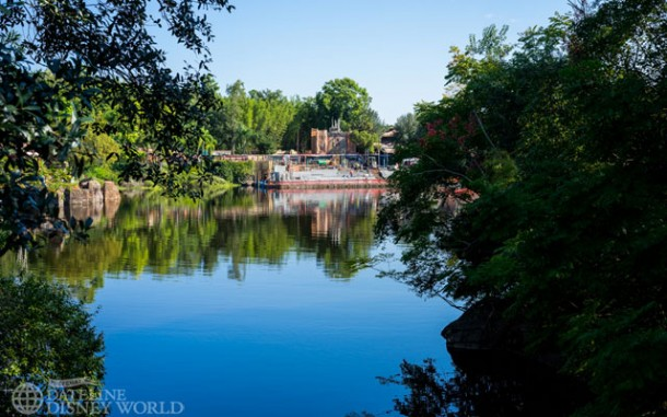More views of the Rivers of Light changes.