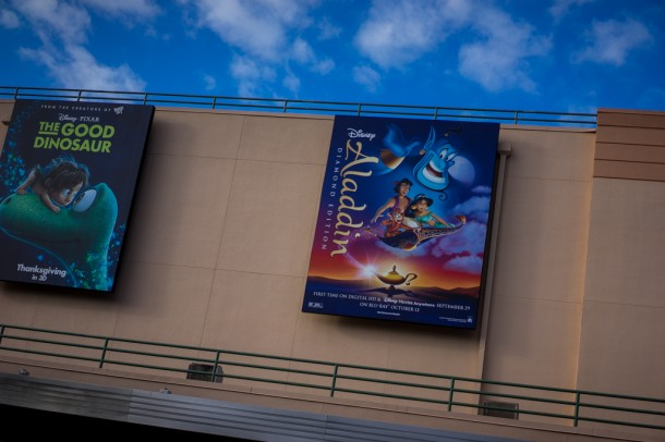 Promoting Aladdin on Blu-Ray!
