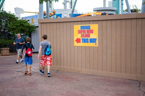 There are quite a few walls up in Marvel Super Hero Island.