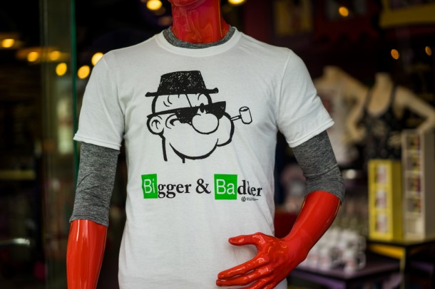 Nice Breaking Bad inspired merchandise at Toon Lagoon.