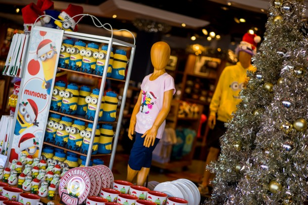 Holiday merchandise featuring the Minions has arrived.