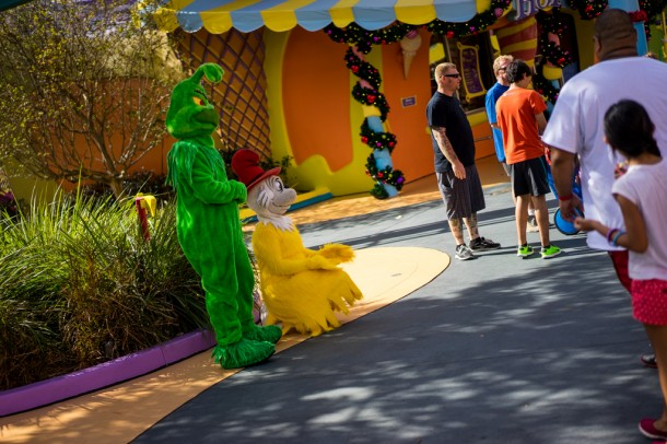 Grinch was out doing meet and greets.