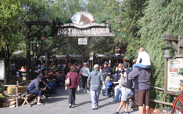 a side entrance from the eastern flank of Fantasyland where the current BBQ restaurant is,