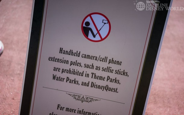 Selfie sticks were banned.