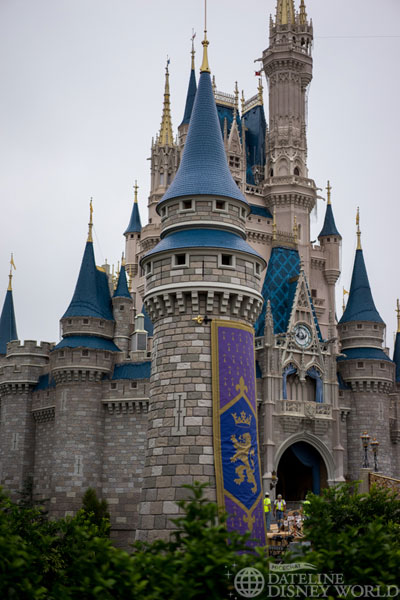 The new turrets at Magic Kingdom were finished and look great.