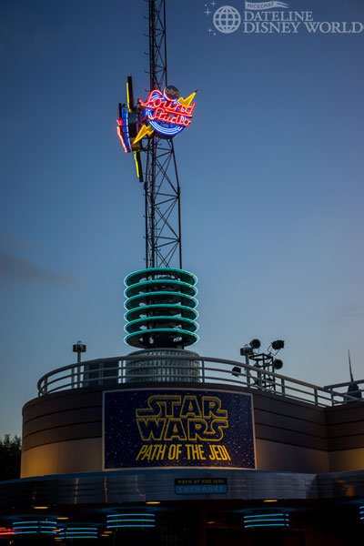 Star Wars has officially landed at the park. The Sounds Dangerous theater now plays the Path of the Jedi clipshow.
