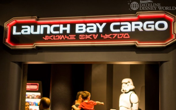 Exiting the Launch Bay, we head into the Cargo, which is the old Animation merchandise shop.
