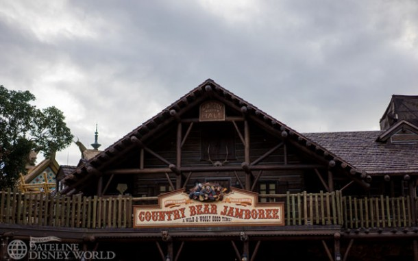 Refurb is done at the Country Bear facade.
