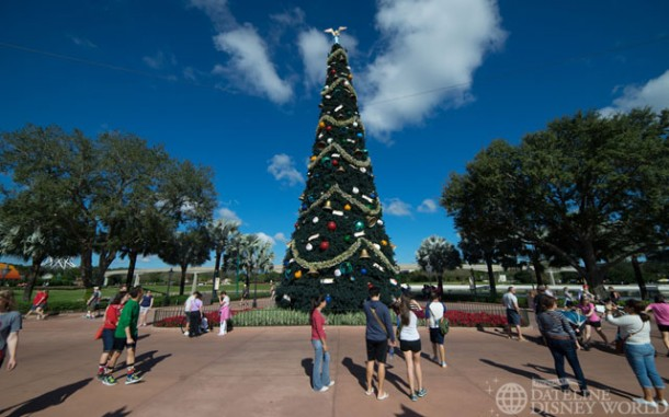 Epcot's tree looking nice.