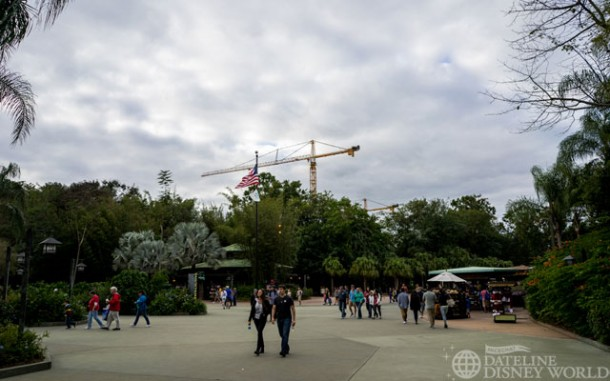 There are two giant cranes on the sight of Pandora.