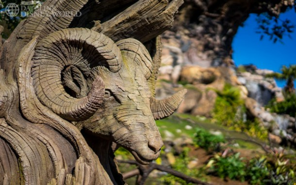 New animal carvings were added to the Tree of Life area.