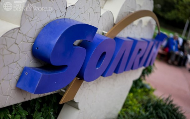 Soarin' is officially closed until the summertime. The attraction will be adding the third theater, upgrading the current theaters to digital projection, and introducing the new Soarin' film, which features landmarks from around the world. That all sounds great, but it should be very interesting to see how the park functions with really only one E-Ticket in Test Track.