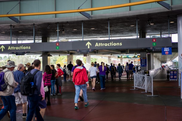 Upon entering, you'll notice security is no longer here. They are now closer to where you park and there are metal detectors just like all the other Orlando parks.