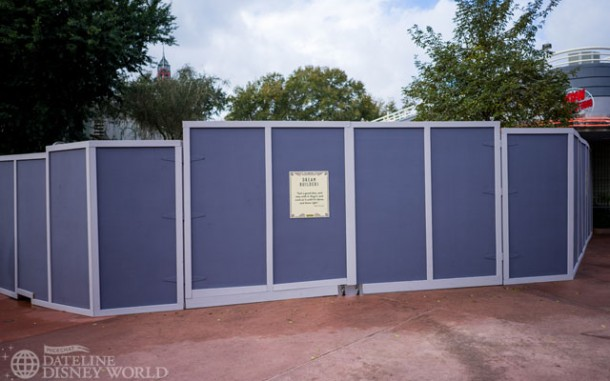 Walls up near Path of the Jedi, most likely for a new meet and greet.