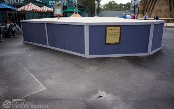 Some work being done on the pavement near the Jedi Training Academy.