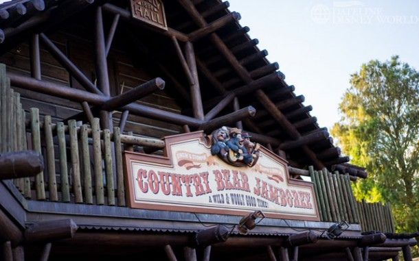 Country Bear facade is all complete after being recently refurbished.