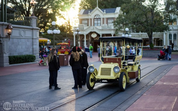 There was a Main Street Vehicle out at 5:30 pm, a rare occasion for Magic Kingdom.