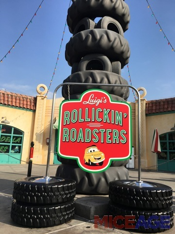 Luigi's sign gives the tire tower an erect look.