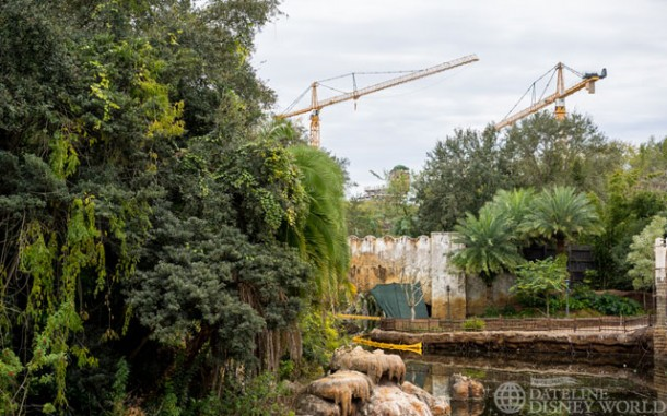 Another view of the cranes on site for Pandora.